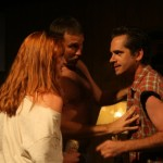 Katie DeBuys, Joe Reynolds, and Joey Hood in Killer Joe by Tracy Letts