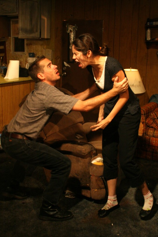 Ken Bradley, Joe Reynolds, Katie deBuys, and Joey Hood in Killer  Joe by Tracy Letts.  Wins Best Comedy and Best Direction - Mark Pickell  at the Austin Critics Table Awards 2010