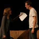 Liz Fisher and Mark Scheibmeir in Dying City by Christopher Shinn